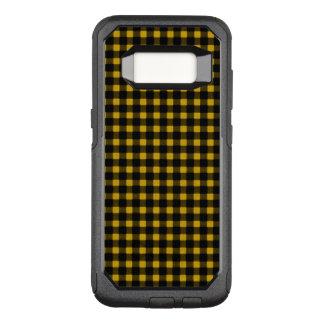 Funda Commuter De OtterBox Para Samsung Galaxy S8 Tela escocesa negra amarilla del búfalo del