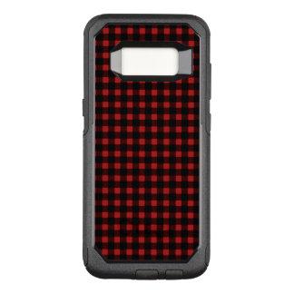 Funda Commuter De OtterBox Para Samsung Galaxy S8 Tela escocesa negra roja del búfalo del invierno