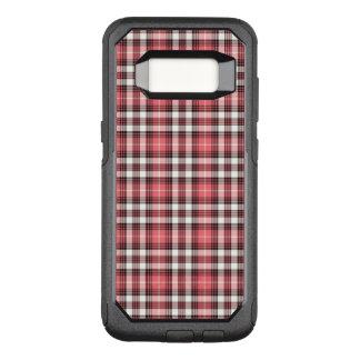 Funda Commuter De OtterBox Para Samsung Galaxy S8 Tela escocesa rosada, blanco y negro