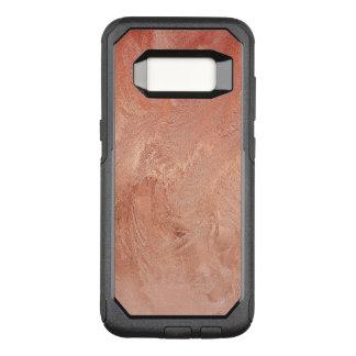 Funda Commuter De OtterBox Para Samsung Galaxy S8 Textura color de rosa del cobre del oro metálica
