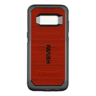 Funda Commuter De OtterBox Para Samsung Galaxy S8 Textura de madera roja simple