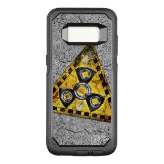 Funda Commuter De OtterBox Para Samsung Galaxy S8 Triángulo amonestador de la radiación nuclear del