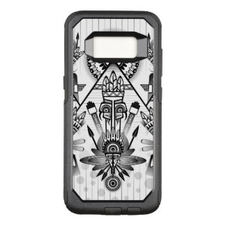 Funda Commuter De OtterBox Para Samsung Galaxy S8 Tribal indio nativo antiguo abstracto