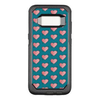 Funda Commuter De OtterBox Para Samsung Galaxy S8 Turquesa linda rosada femenina del dibujo animado