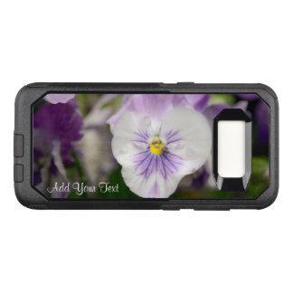 Funda Commuter De OtterBox Para Samsung Galaxy S8 Violas púrpuras y blancas de Shirley Taylor
