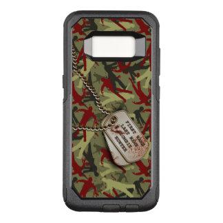 Funda Commuter De OtterBox Para Samsung Galaxy S8 Zombi Camo con las placas de identificación