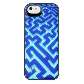 Funda Con Batería Para iPhone SE/5/5s Azul del laberinto