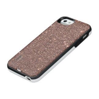 Funda Con Batería Para iPhone SE/5/5s Chispas de bronce del brillo