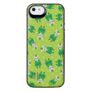 Funda Con Batería Para iPhone SE/5/5s Frenchie lindo afortunado el el día de St Patrick