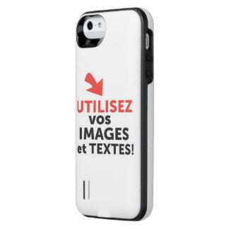 Funda Con Batería Para iPhone SE/5/5s Imprimir sus diseños en línea DIY en Francés