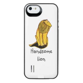 Funda Con Batería Para iPhone SE/5/5s León hermoso