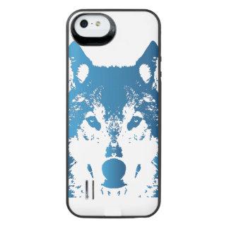 Funda Con Batería Para iPhone SE/5/5s Lobo de los azules claros del ilustracion