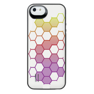 Funda Con Batería Para iPhone SE/5/5s Maleficio del color en blanco