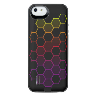 Funda Con Batería Para iPhone SE/5/5s Maleficio del color en negro