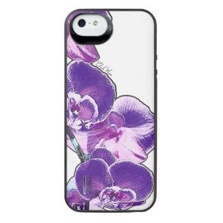 Funda Con Batería Para iPhone SE/5/5s Orquídeas