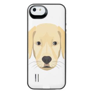 Funda Con Batería Para iPhone SE/5/5s Perrito Retriver de oro del ilustracion