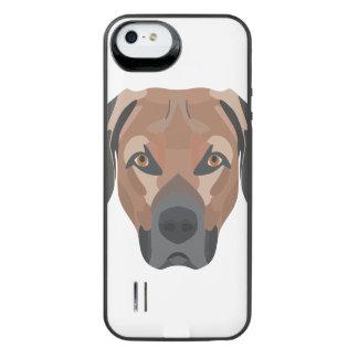 Funda Con Batería Para iPhone SE/5/5s Perro Brown Labrador del ilustracion