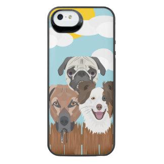 Funda Con Batería Para iPhone SE/5/5s Perros afortunados del ilustracion en una cerca de