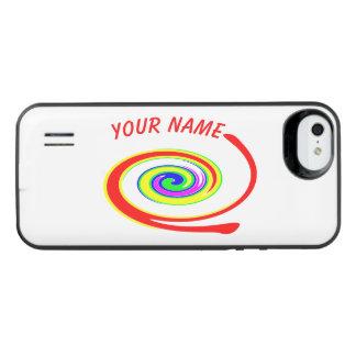 Funda Con Batería Para iPhone SE/5/5s Remolino multicolor. Añada su texto