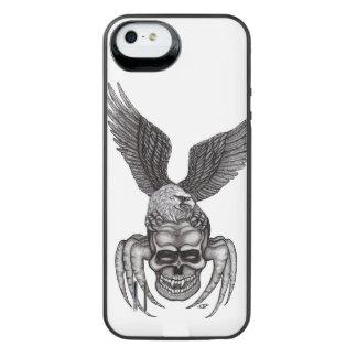 Funda Con Batería Para iPhone SE/5/5s Spiderskull con Eagle