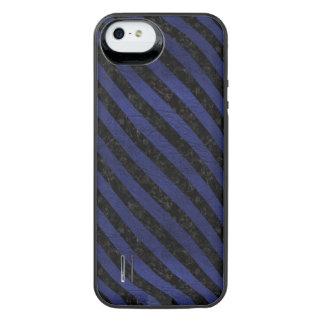 FUNDA CON BATERÍA PARA iPhone SE/5/5s STR3 BK-MRBL BL-LTHR (R)