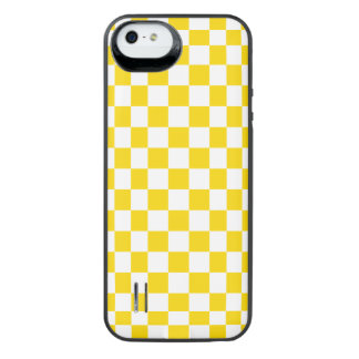 Funda Con Batería Para iPhone SE/5/5s Tablero de damas amarillo