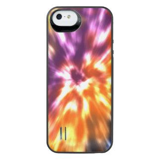 Funda Con Batería Para iPhone SE/5/5s Teñido anudado retro Boho colorido de la paz del