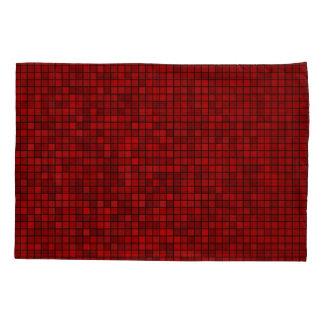 Funda de almohada roja del modelo del pixel
