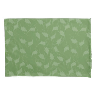 Funda de almohada teñida verde frondoso