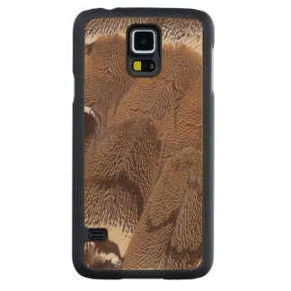 Funda De Arce Para Galaxy S5 De Carved Diseño de la pluma de Brown
