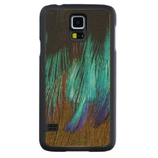 Funda De Arce Para Galaxy S5 De Carved Extracto de la pluma de Motmot