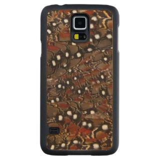 Funda De Arce Para Galaxy S5 De Carved Extracto de la pluma del pecho de Tragopan