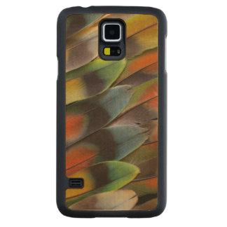 Funda De Arce Para Galaxy S5 De Carved Modelo de la pluma del Lovebird