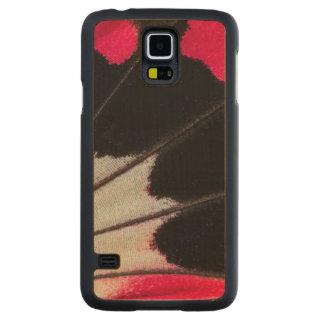 Funda De Arce Para Galaxy S5 De Carved Modelo del ala del detalle de la mariposa tropical