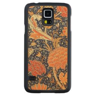 Funda De Arce Para Galaxy S5 De Carved Modelo floral de Nouveau del arte de William