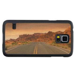 Funda De Arce Para Galaxy S5 De Carved Puesta del sol del viaje por carretera