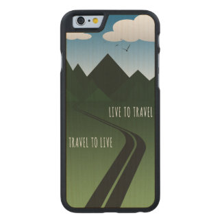 Funda De Arce Para iPhone 6 De Carved Camino de la montaña