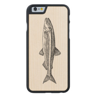 Funda De Arce Para iPhone 6 De Carved Caso del iPhone del ejemplo de los pescados