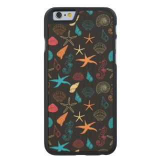 Funda De Arce Para iPhone 6 De Carved Criaturas coloridas del mar