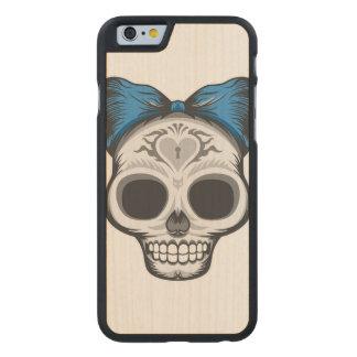 Funda De Arce Para iPhone 6 De Carved Ejemplo del cráneo del azúcar