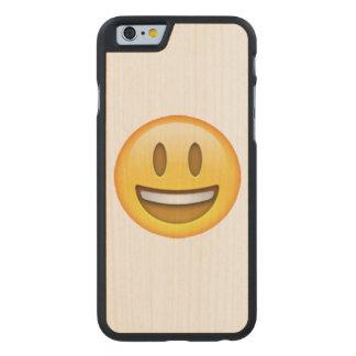 Funda De Arce Para iPhone 6 De Carved Emoji - ojos abiertos de la sonrisa