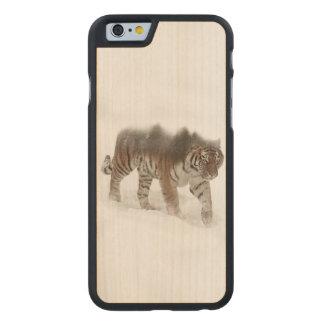 Funda De Arce Para iPhone 6 De Carved Exposición-fauna tigre-Tigre-doble siberiana