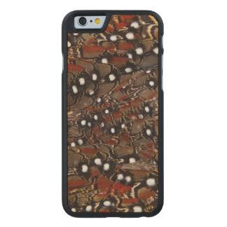 Funda De Arce Para iPhone 6 De Carved Extracto de la pluma del pecho de Tragopan