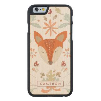 Funda De Arce Para iPhone 6 De Carved Fox caprichoso del arbolado