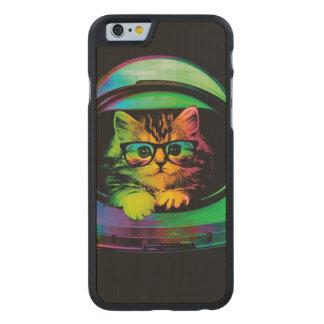 Funda De Arce Para iPhone 6 De Carved Gato del inconformista - astronauta del gato -