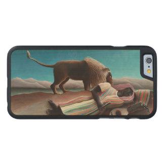 Funda De Arce Para iPhone 6 De Carved Henri Rousseau el vintage gitano el dormir