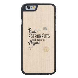 Funda De Arce Para iPhone 6 De Carved Los astronautas son en agosto Ztw1w nacidos