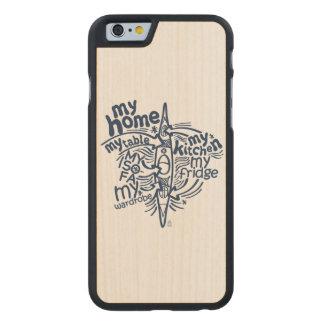 Funda De Arce Para iPhone 6 De Carved Mi kajak es mi hogar