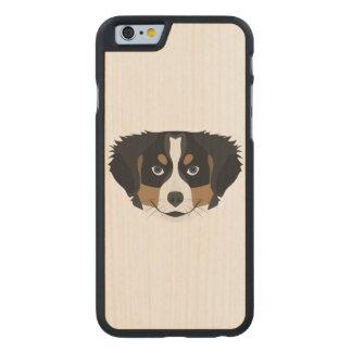 Funda De Arce Para iPhone 6 De Carved Perro de montaña de Bernese del ilustracion