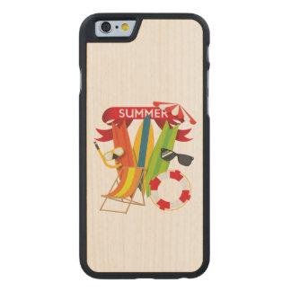 Funda De Arce Para iPhone 6 De Carved Playa Watersports del verano
